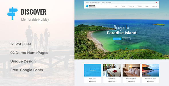 DISCOVER -  Countryside Hotel PSD Template