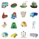 City Icons Set, Cartoon Style - GraphicRiver Item for Sale