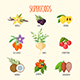 Set of Superfoods in Flat Style - GraphicRiver Item for Sale