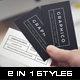 2 in 1 Black & White Business Card - 60 - GraphicRiver Item for Sale