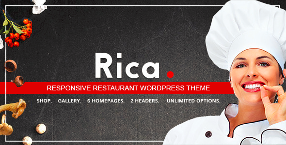 Rica - Responsive Restaurant WordPress Theme