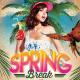 Spring Break Summer Beach Festival Flyer Template - GraphicRiver Item for Sale