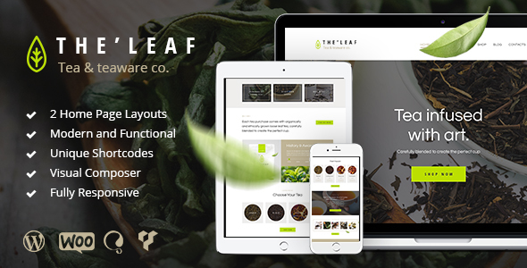 TheLeaf - Tea Production Company & Online Coffee Shop WordPress Theme