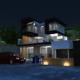Creative Night Mood Villa - 3DOcean Item for Sale