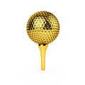 Golden Golf Ball and Tee - PhotoDune Item for Sale