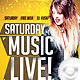 Flyer Saturday Music Live - GraphicRiver Item for Sale