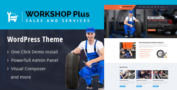 WorkshopPlus - WorkShop Car Autos Services WordPress Theme