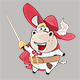 Set of Cartoon Cow King's Musketeers - GraphicRiver Item for Sale