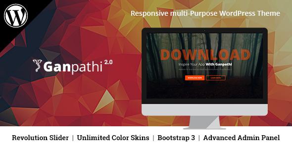 Ganpathi - Responsive App Landing Page WordPress Theme