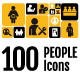 100 People Icons Pack - GraphicRiver Item for Sale