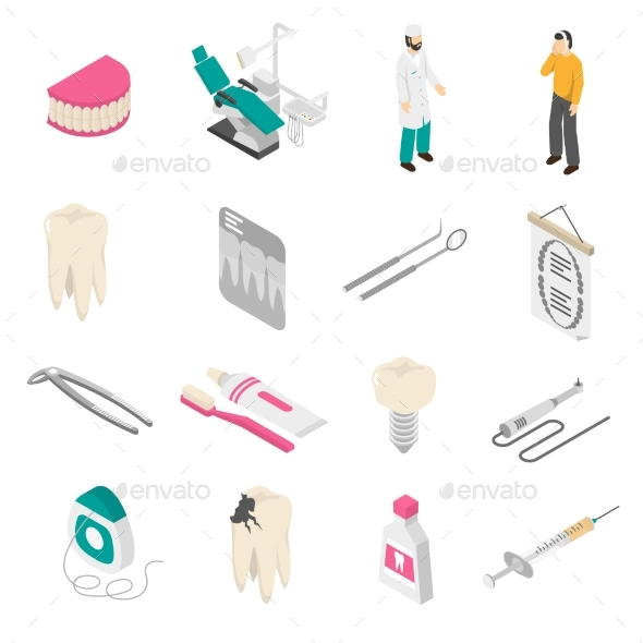 Dental Color Icons