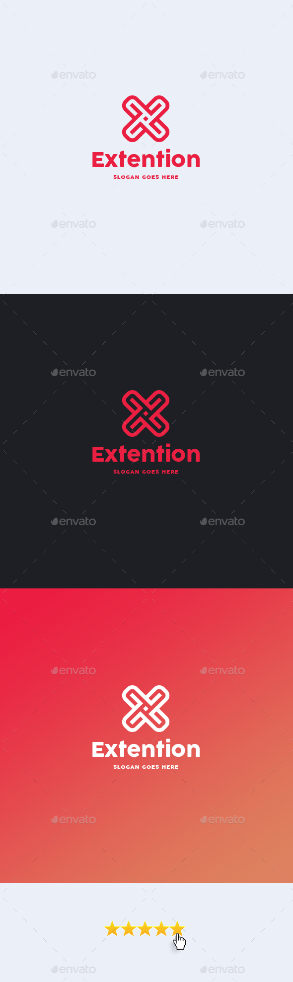 Extention • Letter X Logo Template
