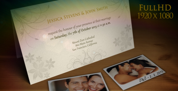 Elegant Wedding Invitation Templates After Effects 6