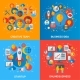 Flat Design Concepts of Business Processes - GraphicRiver Item for Sale