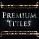 Premium Titles - VideoHive Item for Sale