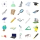 Science Icons Set, Cartoon Style - GraphicRiver Item for Sale