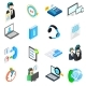 Computer Service Icons Set, Isometric 3d Style - GraphicRiver Item for Sale