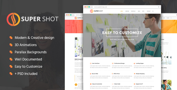SuperShot – Creative Agency Landing Page