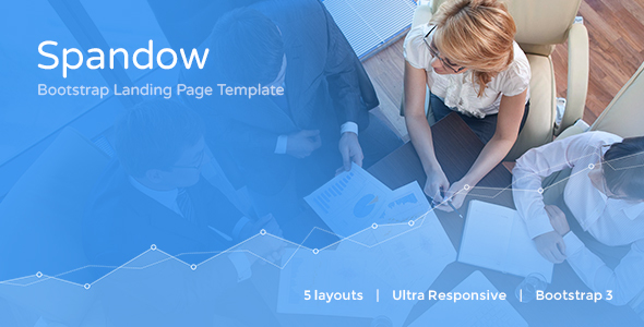 Spandow - Responsive Bootstrap Landing Page Template