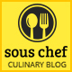 Sous Chef — Recipe, Culinary, Cooking  template for blog/website - ThemeForest Item for Sale