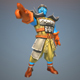 Low Poly Temple Fighter 3D Character - 3DOcean Item for Sale