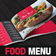 Modern Food Restaurant Menu Brochure / Bi-Fold Template - GraphicRiver Item for Sale