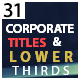 Corporate Titles And Lower Thirds - VideoHive Item for Sale