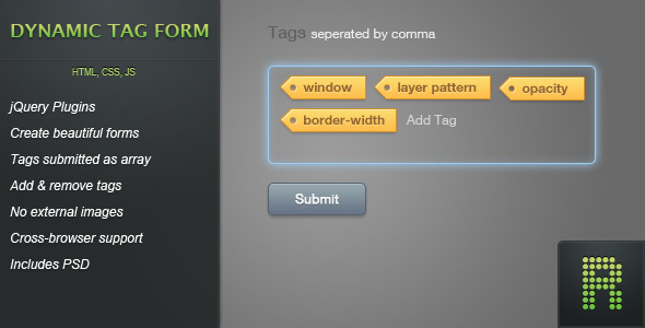 Dynamic Tag Form