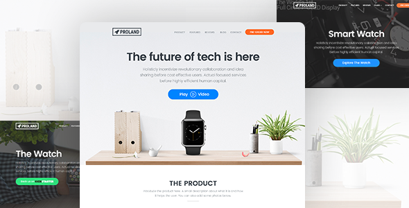 Proland | WordPress Product Landing Page Theme