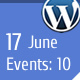 WP Events Calendar Plugin - CodeCanyon Item for Sale