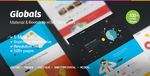 Globals - Material & Bootstrap HTML Template