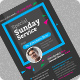 Special Sunday Service Flyer Template - GraphicRiver Item for Sale
