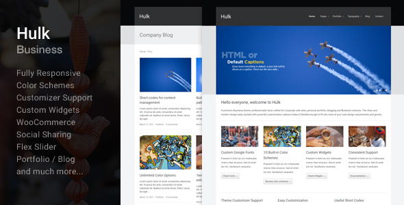 Hulk Business/Portfolio Wordpress Theme