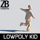 Lowpoly Kid 003 - 3DOcean Item for Sale