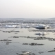 Ice Drift On The River. In The Spring The Ice Floats On The River - VideoHive Item for Sale