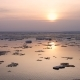 Sunset Ice Drift On The River - VideoHive Item for Sale