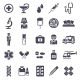 Set of Black Medical Icons Isolated on White - GraphicRiver Item for Sale