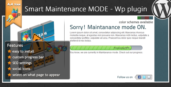 Maintenance Mode - Wordpress Plugin