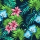 Flowers and Palm  - GraphicRiver Item for Sale