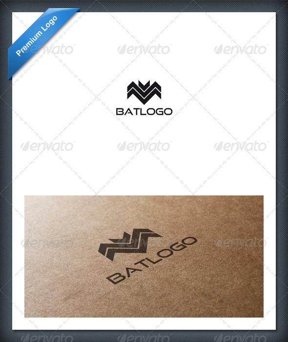 Abstract Bat Logo Template