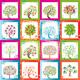 Huge set of original vector trees with frames - GraphicRiver Item for Sale