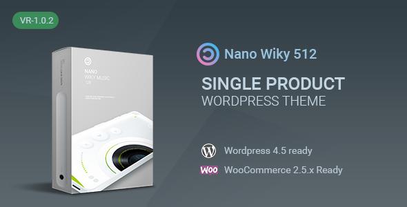 Nano-Music Player / Single Product WP Theme