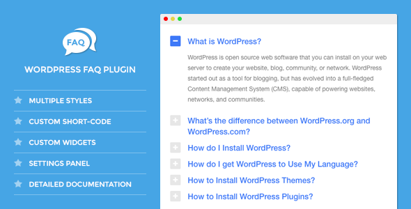 DW FAQ - WordPress Plugin