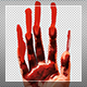 Hand In Red Paint On Glass - VideoHive Item for Sale