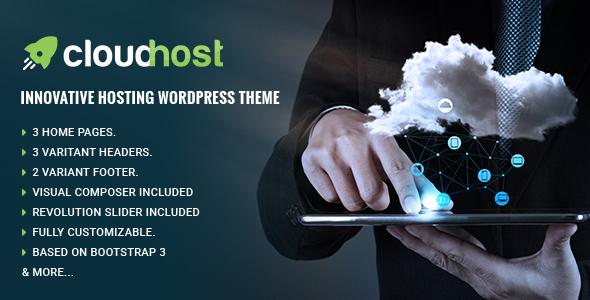 CloudHost - Responsive Hosting WordPress Theme