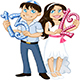 Jewish Boy and Girl Hold Numbers for Bar and Bat Mitzvah - GraphicRiver Item for Sale
