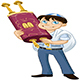 Jewish Boy with Talit Holds Torah for Bat Mitzvah - GraphicRiver Item for Sale