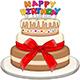 Three Floors Happy Birthday Cake - GraphicRiver Item for Sale