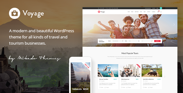 Voyage - Travel & Tour Booking Theme