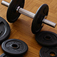 Dumbbells in Gym - Muscle Training - VideoHive Item for Sale